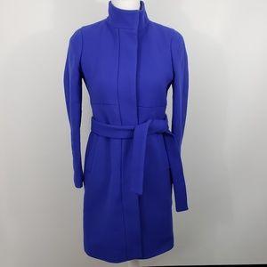 J Crew double cloth wool overcoat trench jacket 4P